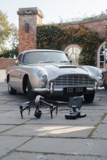 Aerial drone filming with Aston Martin